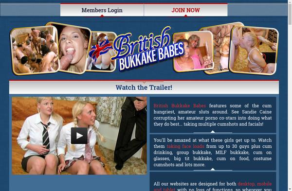 British Bukkake Babes
