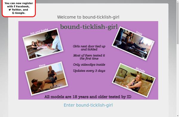 Bound Ticklish Girl