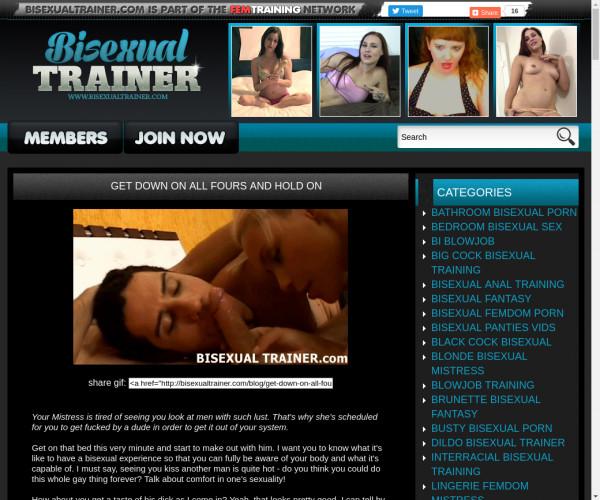 bisexual trainer